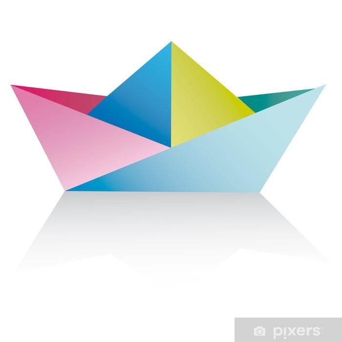 Papier Peint Vecteur Un Navire De L Origami Bateaux En Papier Sur Blanc Vecteur Pixers Nous Vivons Pour Changer