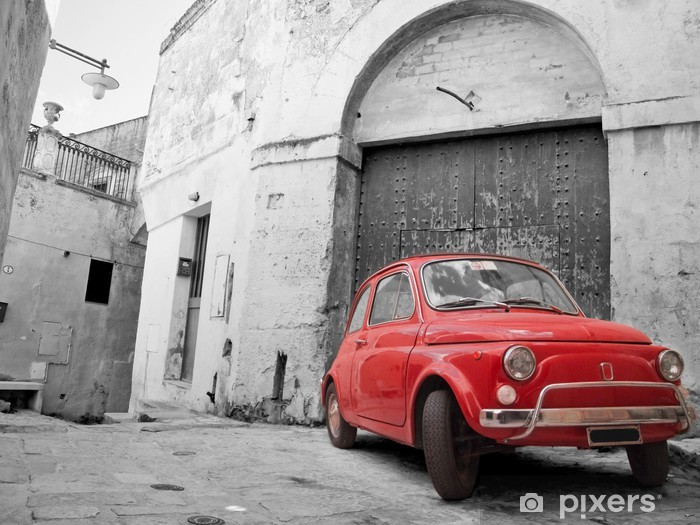 Vinylová fototapeta Red Classic Car. - Vinylová fototapeta