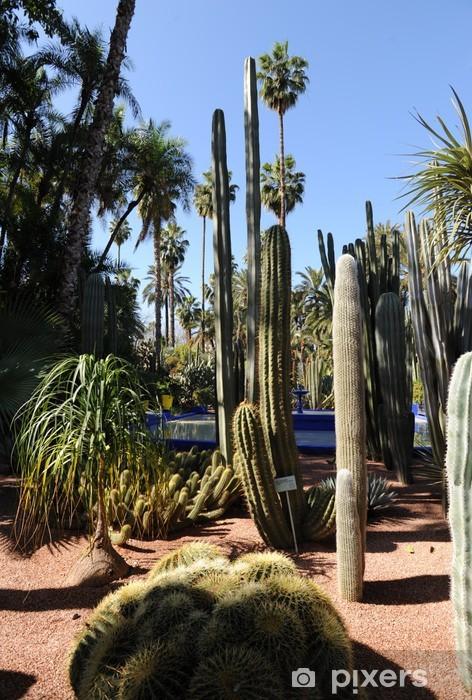 Naklejka Pixerstick Jardin Majorelle - Le Jardin de Cactus - Wakacje