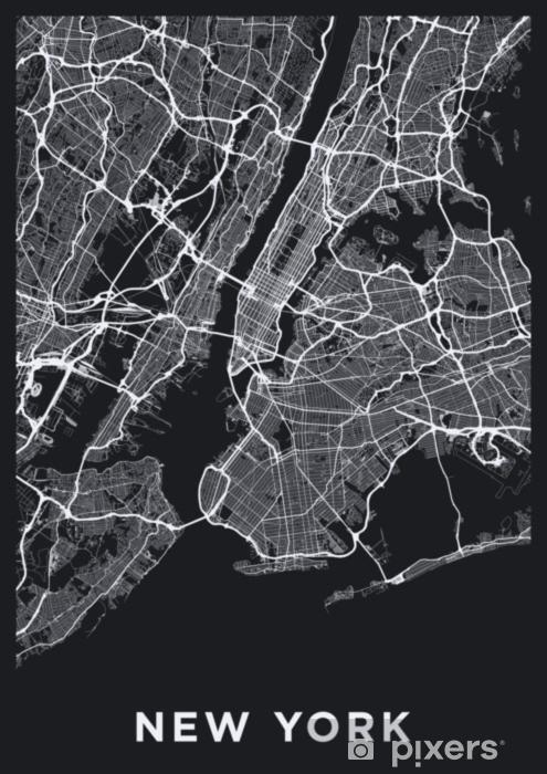Fototapeta Tmava New York City Map Silnicni Mapa New Yorku