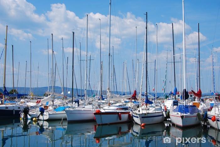 Naklejka Pixerstick Capodimonte - Viterbo - port - Żaglówki - Transport wodny