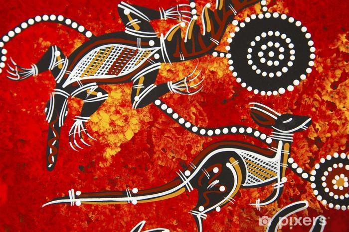 Fototapet av Vinyl Aboriginal stil design - Övriga känslor