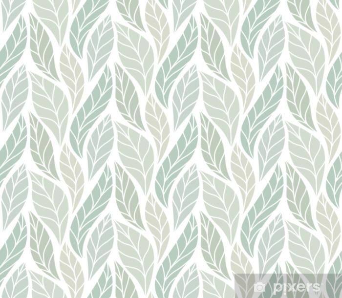 Pixerstick-klistremerke Vektor grønne blader sømløs mønster. abstrakt grid bakgrunn. geometrisk tekstur. - Grafiske Ressurser