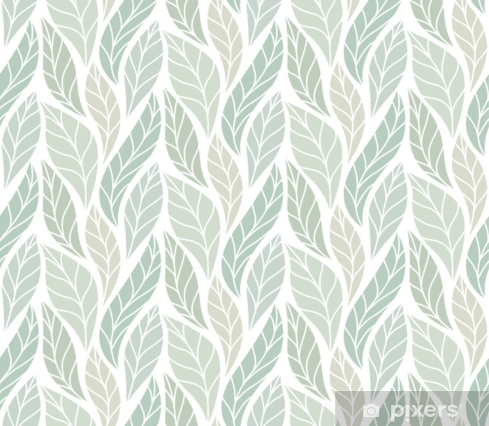 Vector Green Leaves Seamless Pattern. Abstract Grid Background. Geometric texture. Pixerstick Sticker - Graphic Resources