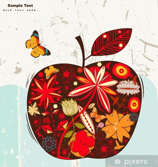 Papier peint vinyle Pomme - Fleurs