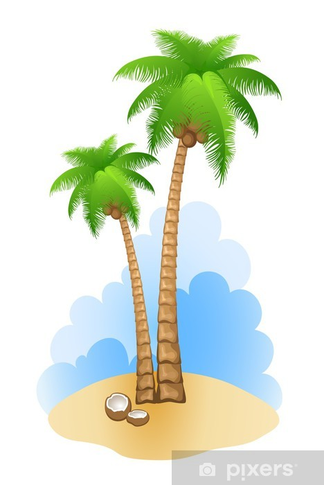 Fotomural Estándar Palm tree - Vinilo para pared