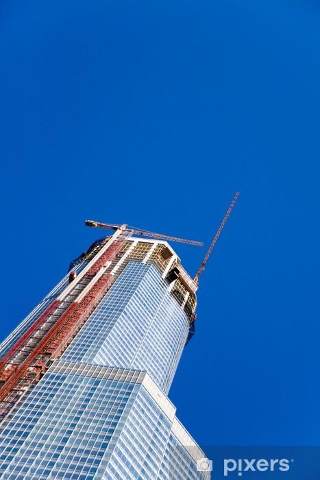 Fototapeta winylowa Wieżowce i dźwigów budowlanych - Przemysł ciężki