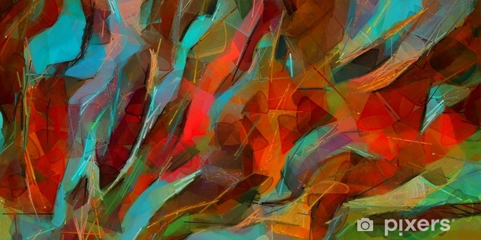 Sticker Main Affiche Dessin Affiche Murale Art Abstrait Peinture A L Huile Style Impressionnisme Bon Pour Les Illustrations Imprimees Sur Toile Ou Papier Art Moderne A La Mode Pictural Contemporain Vrais Coups De