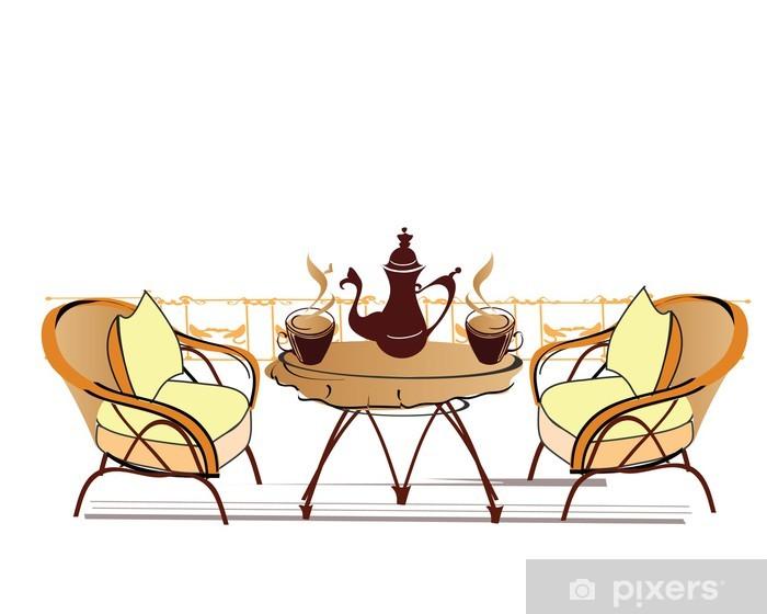 Naklejka Pixerstick Open-air cafe - Inne