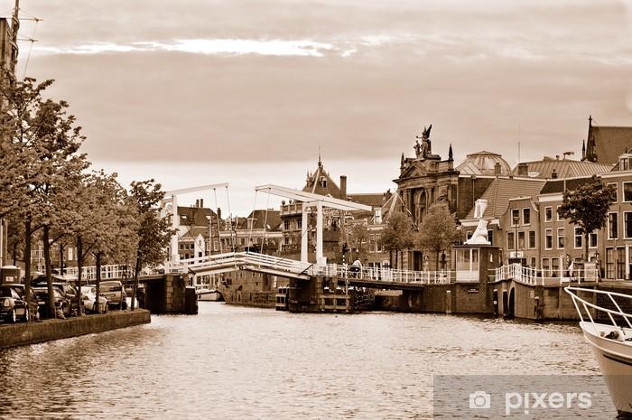 Gravestenenbrug, the famous draw bridge in Haarlem Pixerstick Sticker - European Cities