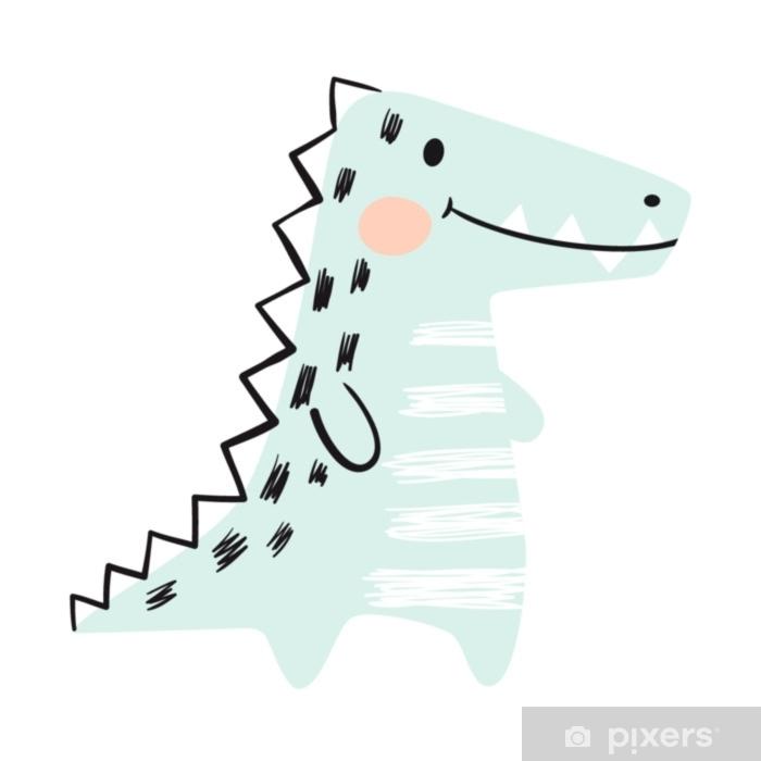 ebd16031928 Vinilo Cocodrilo bebé lindo conjunto de impresión. dinosaurio. animal  africano fresco Pixerstick