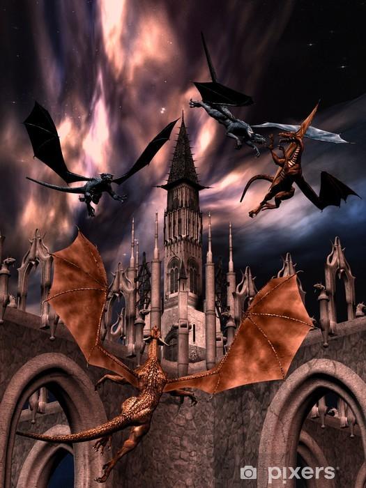 Papier peint vinyle Combattre des dragons - Thèmes