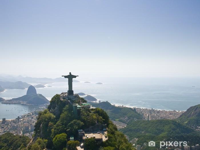 Naklejka Pixerstick Dramatyczny widok z lotu ptaka Rio de Janeiro - Brazylia