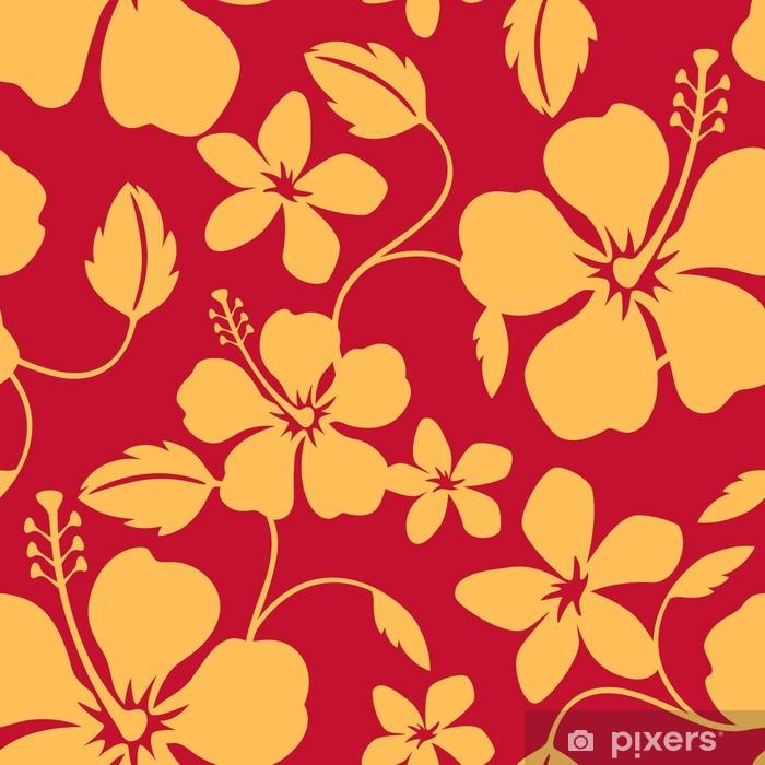 Plakat Seamless Hawaiian Hula Wzór - Tła
