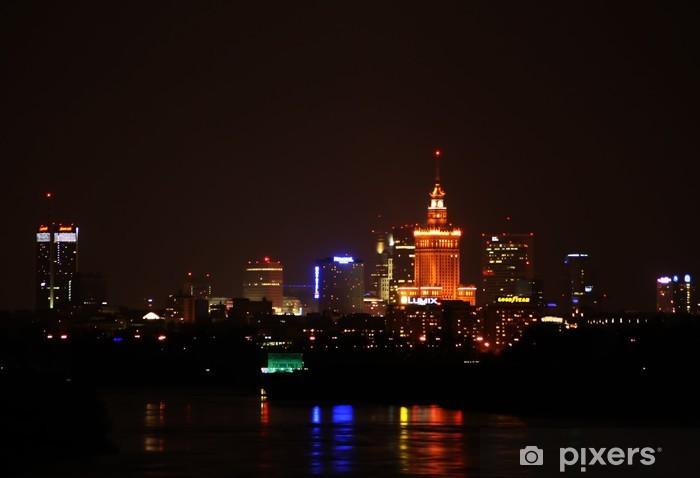 Fotomural Estándar Warszawa noca - Temas