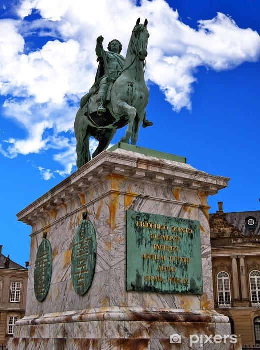 Sticker Pixerstick Statue de Frederick V Place du palais d'Amalienborg - Europe