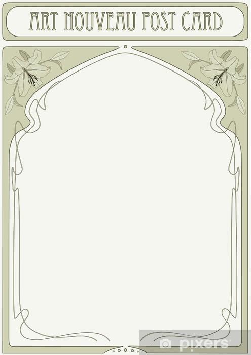 Carta Da Parati Cornice Art Nouveau Con Spazio Per Il Testo Pixers