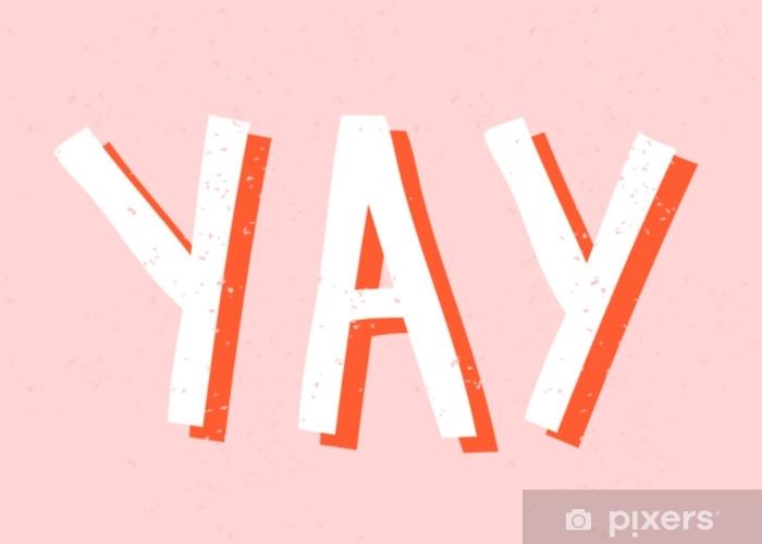 Dekokissen Yay retro typografische Gestaltung - Grafische Elemente