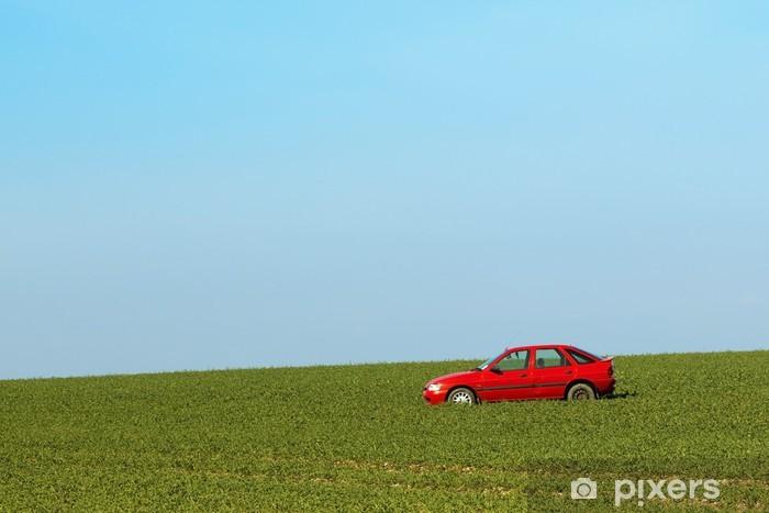 Naklejka Pixerstick Opuszczony samochód - Krajobraz wiejski
