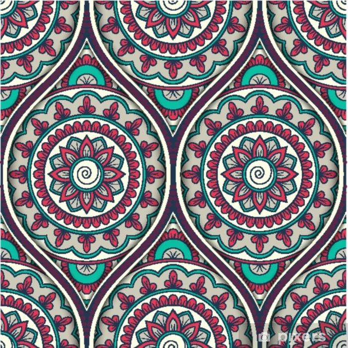 Fototapeta zmywalna Wzór z ornamentem etnicznej mandali. ręcznie rysowane ilustracji - Zasoby graficzne