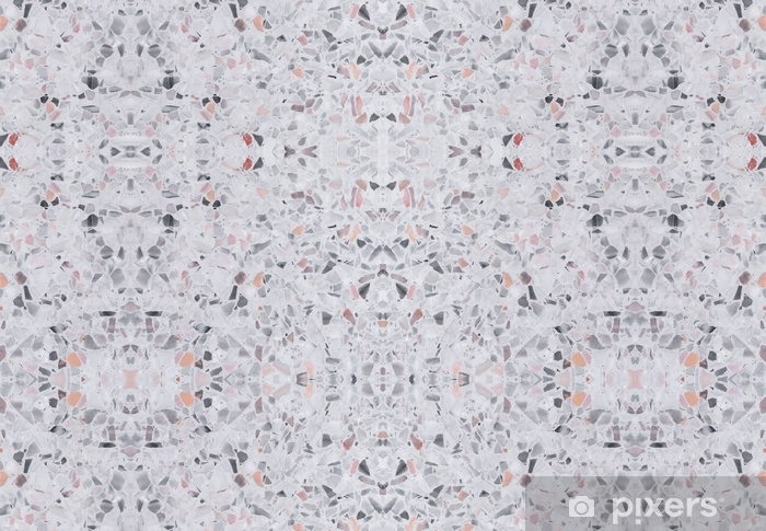 Terrazzo Flooring Old Texture Or Polished Stone Pattern Seamless Design For Background And Color Beautiful Wall Mural Vinyl