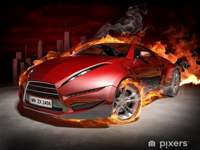 Burnout Pixerstick Sticker -
