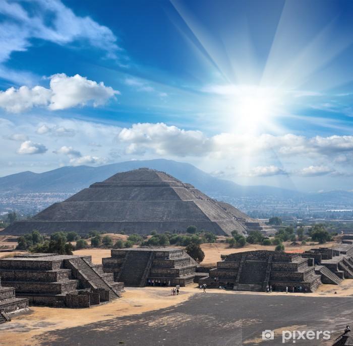 Pixerstick Sticker De Piramides van Teotihuacan - Amerika