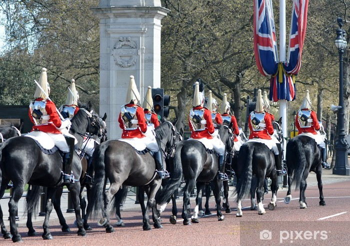 The Horseguards on the streets of London Vinyl Wall Mural - Success and Achievement