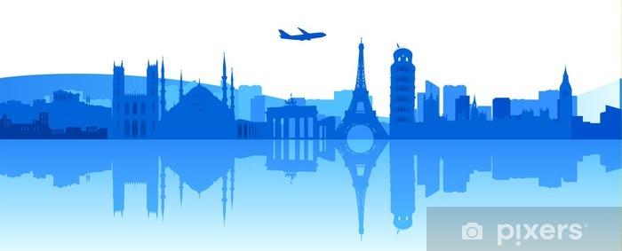 Pixerstick Sticker Europa rond te reizen - Europa