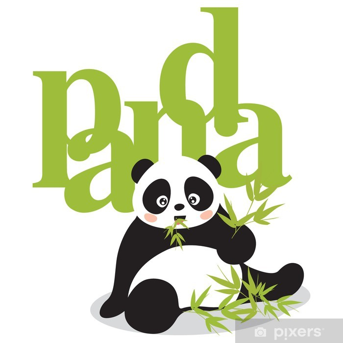 Plakat Panda - Naklejki na ścianę
