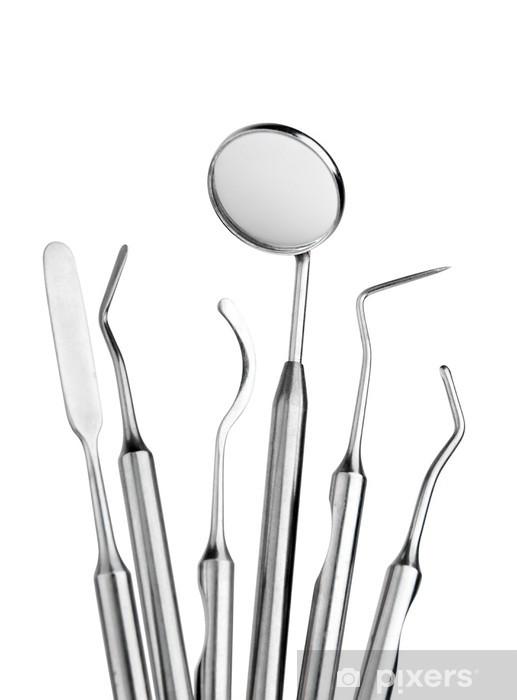 Naklejka Pixerstick Zestaw instrumentów opieki stomatologicznej - Dom i ogród