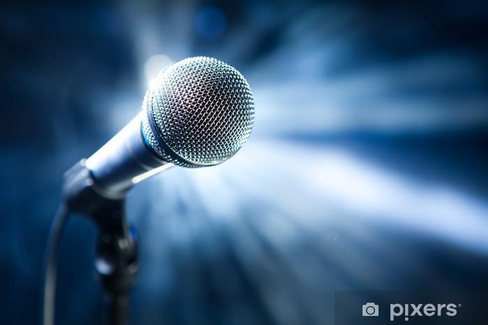 Pixerstick Dekor Mikrofon på scen - Hio hop