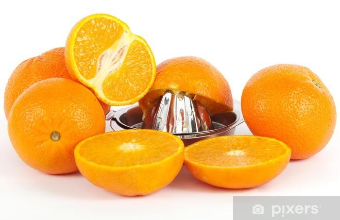 Vinyl Fotobehang Orangensaft pressen - Vruchten