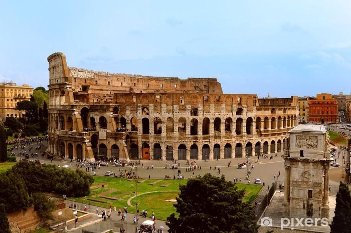 Papier peint vinyle Le colisée de Rome - Thèmes