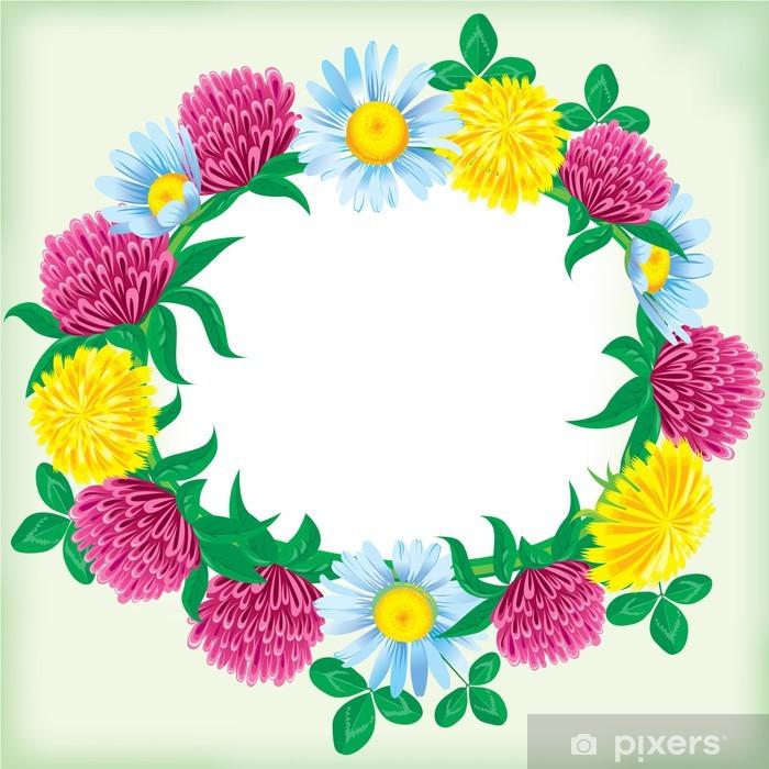 Papier peint vinyle Une couronne de fleurs - Maisons et jardins