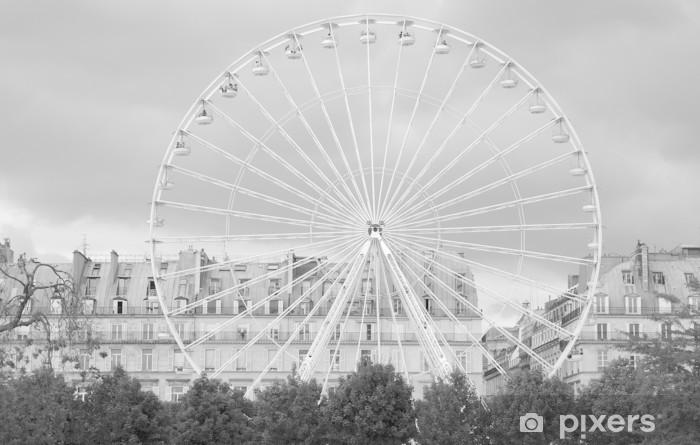 Fototapete Riesenrad in den Jardin des Tuileries, Paris
