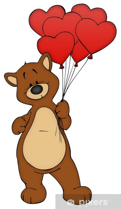 Bar Teddy Teddybar Liebe Verliebt Valentinstag Sticker Pixers
