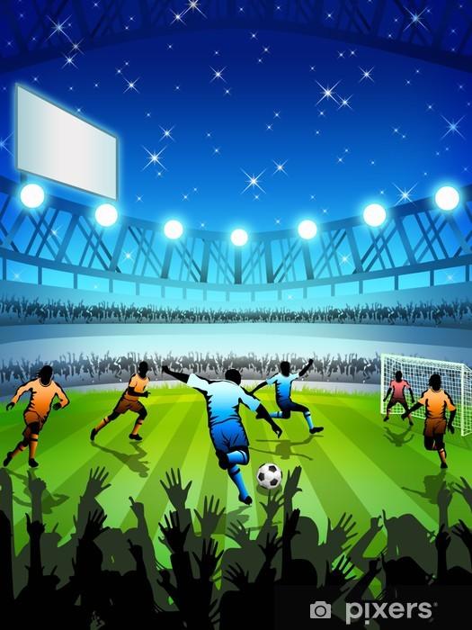 Fototapete Fussball Stadion Bei Nacht