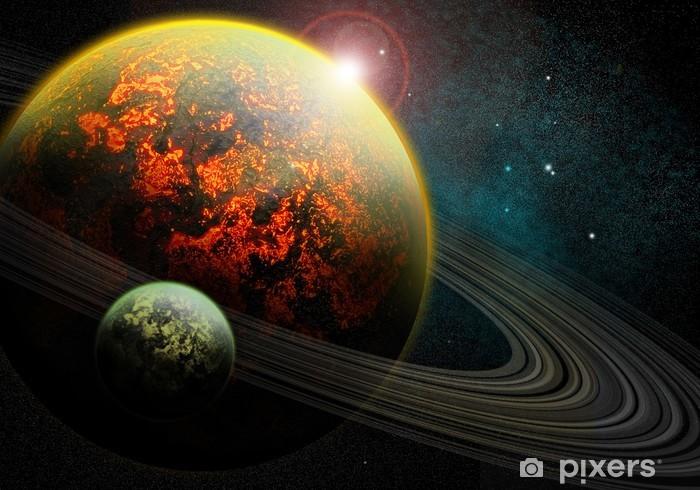 Papier peint vinyle Brûler planète - Univers