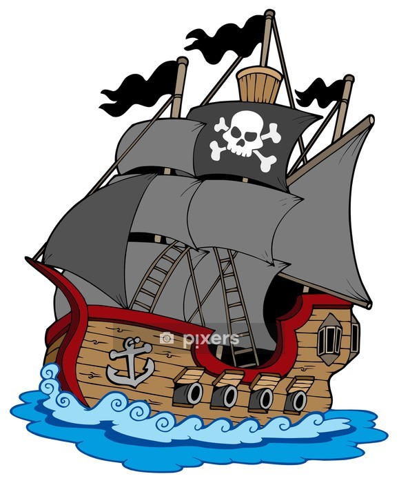 Pirate vessel Wall Decal - Wall decals