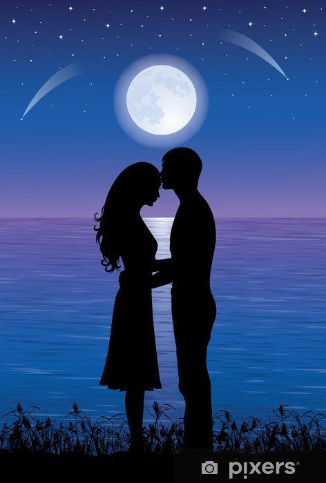 Romantic Night Wall Mural Pixers 174 We Live To Change