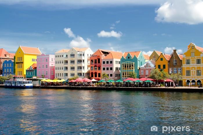 Sticker Pixerstick Willemstad Curacao auf - Thèmes