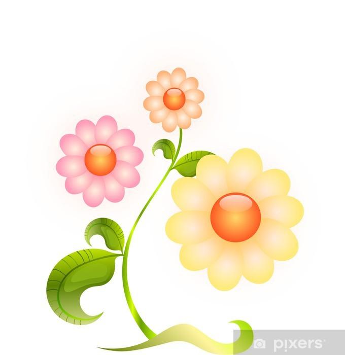 Pixerstick Aufkleber Blume - Blumen