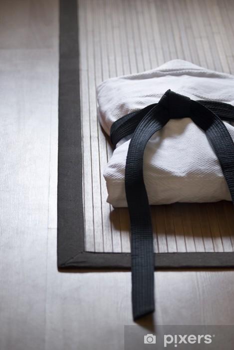 Fototapet av Vinyl Judo gi på bambu matta - Teman
