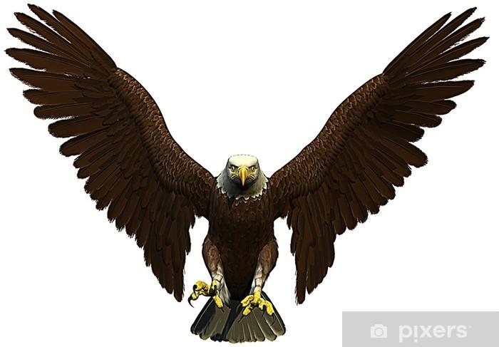 Sticker Pixerstick American bald eagle - Sticker mural