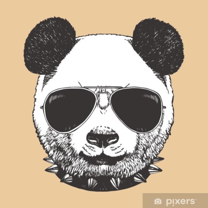 Y Panda Pixerstick Collar Sol Vinilo Retrato De Con Gafas e2D9IYWbEH
