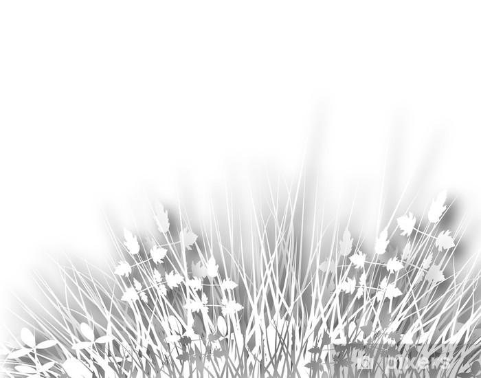 Sticker Pixerstick Meadowy - Plantes