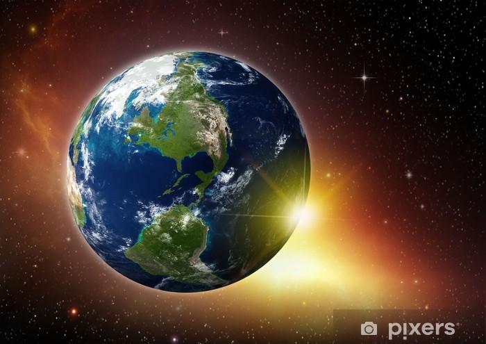 Vinyl Fotobehang De kosmische ruimte - Aarde