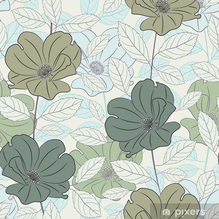 Papier peint vinyle Couleurs pastel roses - Fleurs