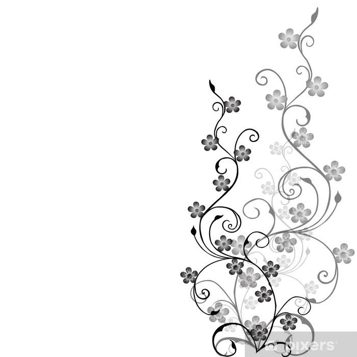 Naklejka Pixerstick Liści Szary - Znaki i symbole